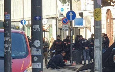 Milano, allarme per finta bomba in un cestino di via Torino