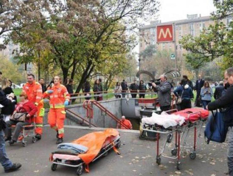 Milano, treno della M2 frena bruscamente: un ferito grave e altri contusi
