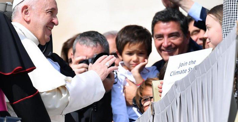 L'attivista Greta Thunberg incontra Papa Francesco
