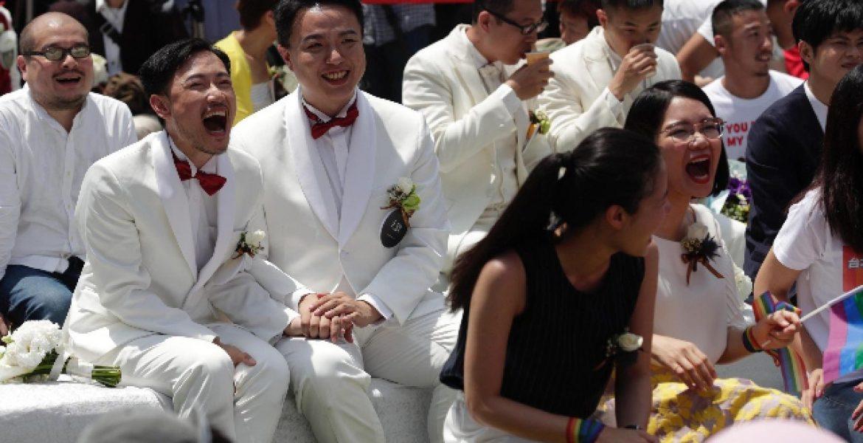 Boom di matrimoni hay in Taiwan dopo la legalizzazione