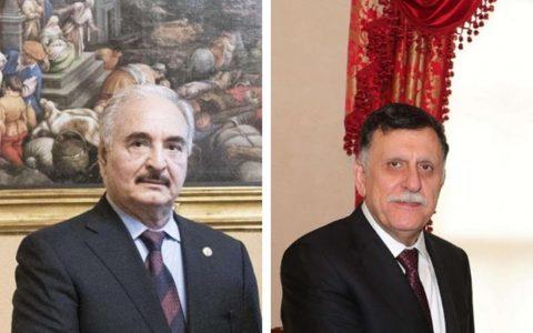 Libia: Sarraj firma la tregua a Mosca. Haftar prende tempo