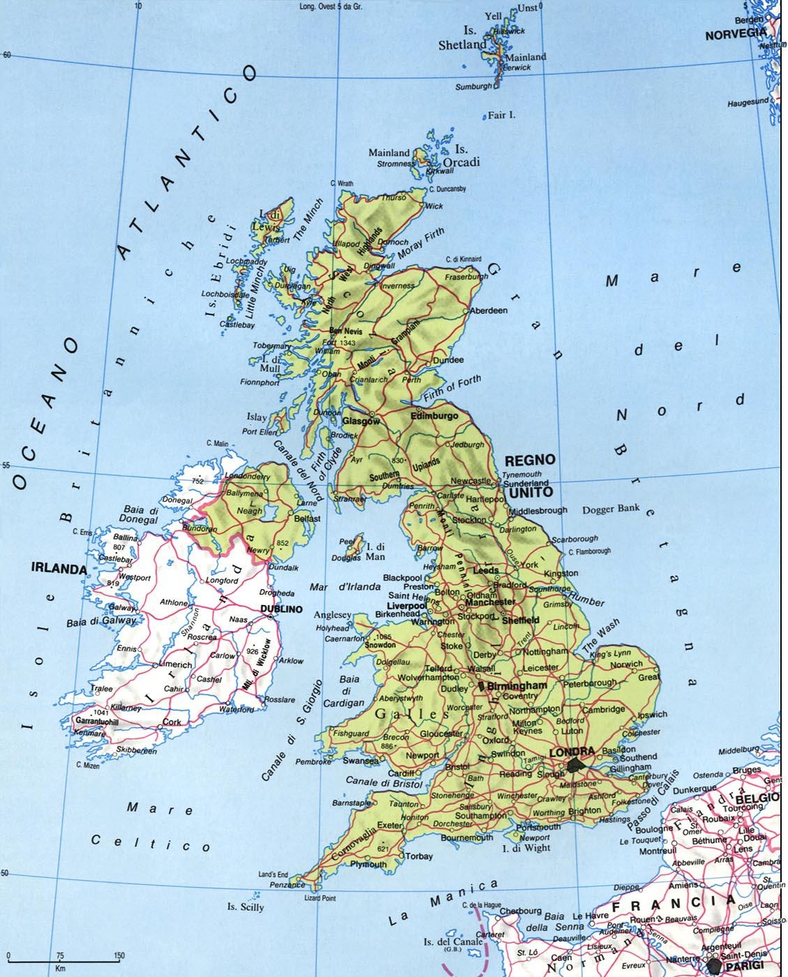 Cartina Fisica Gran Bretagna E Irlanda.Se Il Regno Unito E L Unione Europea Non Si Parlano Terza Parte